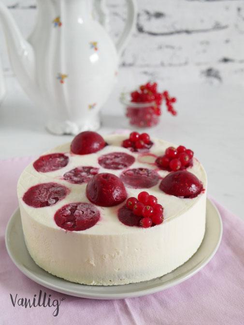 Rezept Mousse Torte mit weißer Schokolade