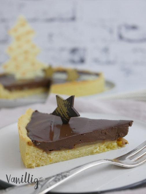 Schokoladentarte mit Creme Fraiche