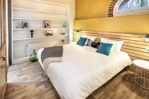 King size bed in our family suite