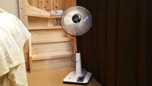 軽井沢は涼しいので扇風機で十分