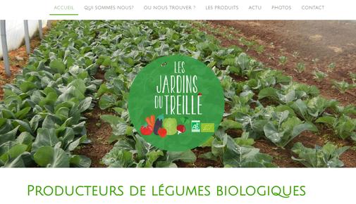 capture d'écran du site des Jardins du Treille