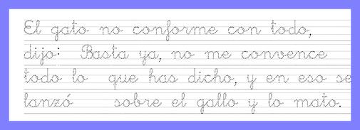 dos pautas para la misma caligrafía