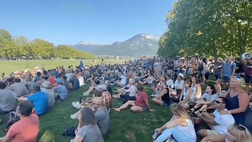 manifestation rassemblement pour la Liberté à Annecy le 13 septembre 2020