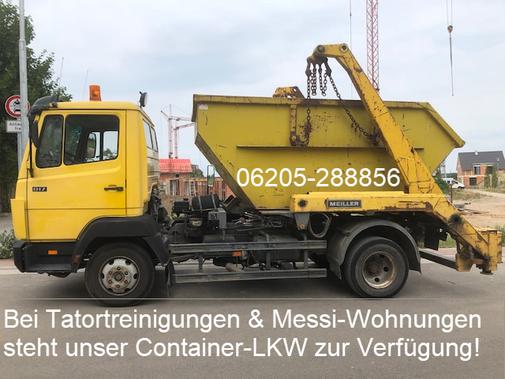Container-LKW buchen? Sprechen Sie mit Frau Zuber