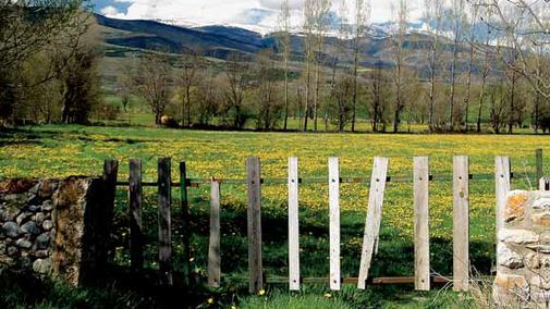 El massís del Carlit des de la plana d'Alp