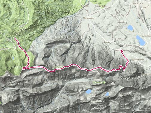 Klettersteig Gantrisch : Gantrisch klettersteig wanderung berner alpen laufend