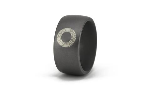 Tantal Ring mit Mokume Gane Kreis