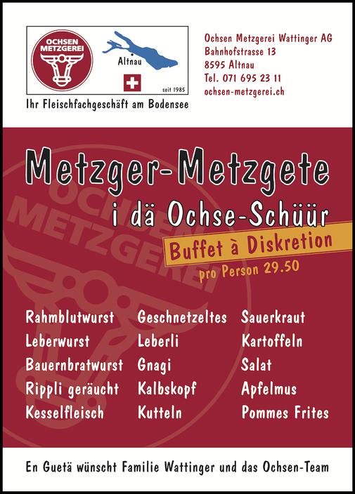 Flyer Metzger-Metzgete 2017