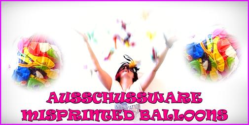 Ausschußware - Fehldrucke - Misprinted balloons