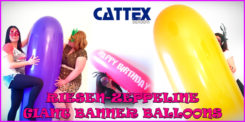 Riesenzeppeline - Giant banner balloons CATTEX