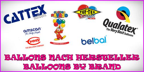 Ballons nach Hersteller - Balloons by brand