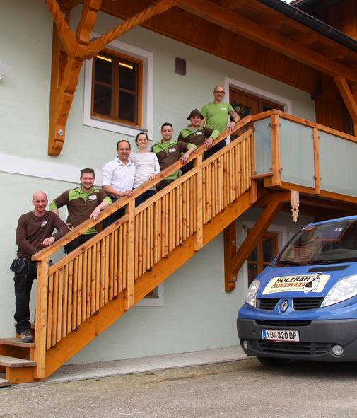 Das Team vom Holzbau Laireiter