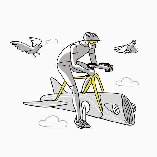 Airbike Illustration