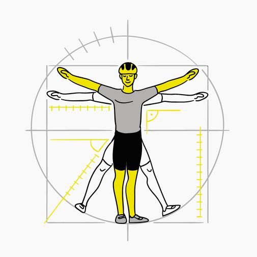 Fahrradfahrer Körpermaße Illustration