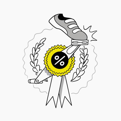 Illustration Fahrrad Rabatt