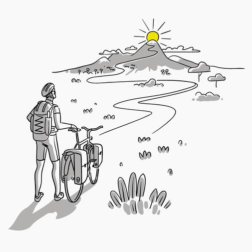 Bike & Travel Illustration