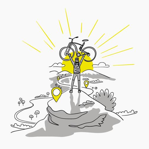Lifestye Mountainbike Illustration