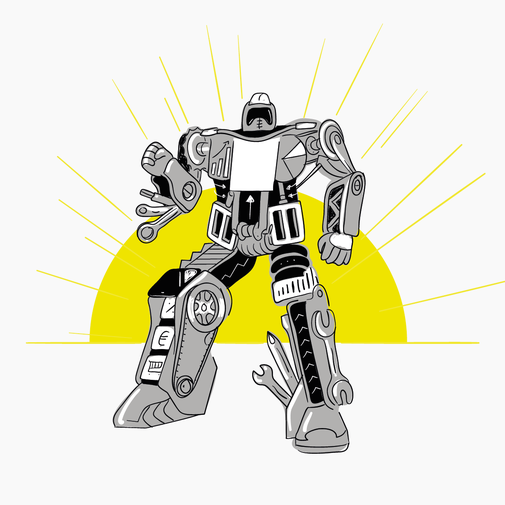 Biketools Robot Illustration