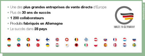 LR plus grande entreprise d'allemagne de vente directe, 30 ans de succès, 1200 collaborateurs, le succès dans 30 pays