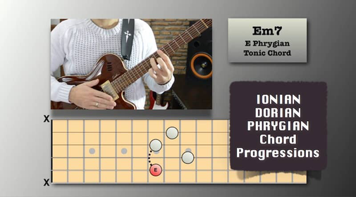 Ionian, Dorian, and Phrygian Chord Progressions