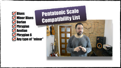 Pentatonic Scale Compatibility List