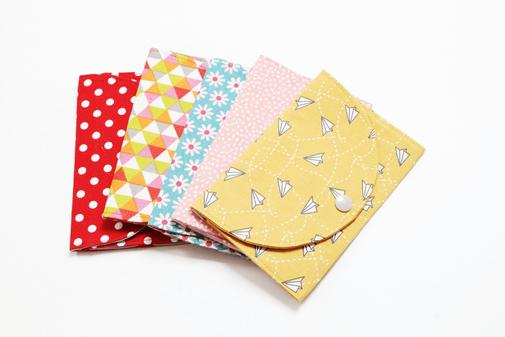Pochette barrettes tissu imprimé fille