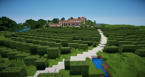 Minecraft italienischer Weinberg und Weingarten