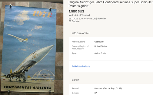 Continental Airlines - 1971: - Original vintage airline poster