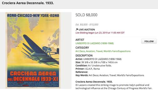 Crociera Aerea Decennale 1933 - Roma-Chicago-New York-Roma - Umberto di Lazzaro