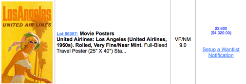 United Air Lines - Los Angeles - Original vintage airline poster by Stan Galli