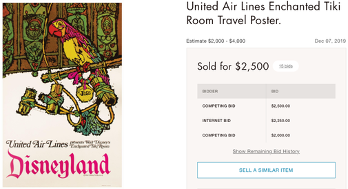United Air Lines - Disneyland - Original vintage airline poster