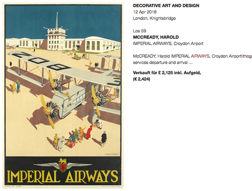 Imperial Airways - Original vintage airline poster by Harold McCready