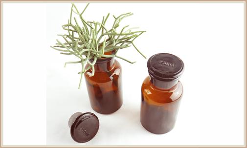 2er Set Aptohekergläser braun als Vasen oder Dekoration, 250 ml