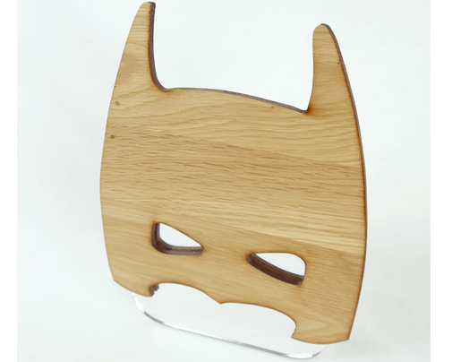 Holz Spiegel Kombination in Batman Form