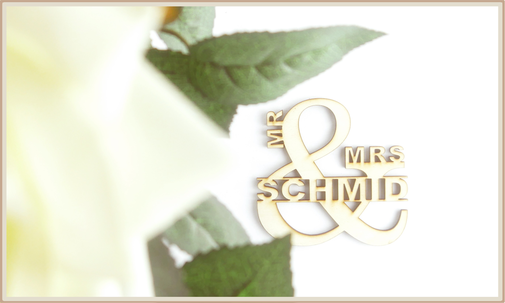 Deko Lasercut mr. & mrs., personalisierbar