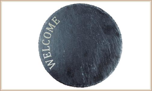 Schiefer Platte, Unterteller, Platzteller graviert, personalisierbar