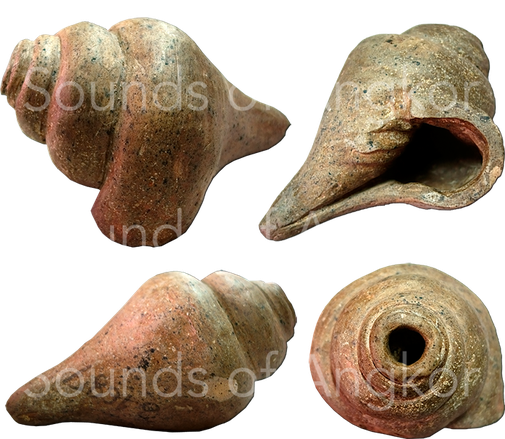 Conch in clay. National Museum of Cambodia.