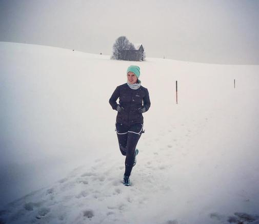 Winterliche Laufrunde in Hallwang