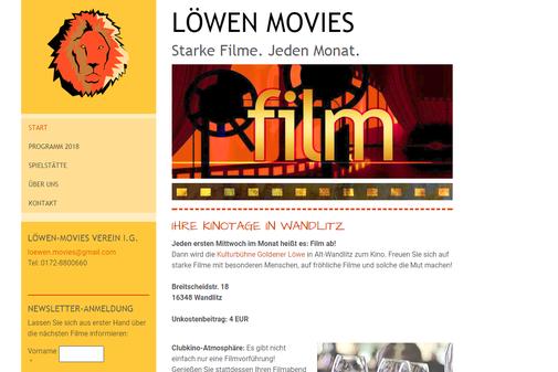 Startseite von www.loewenmovies.de