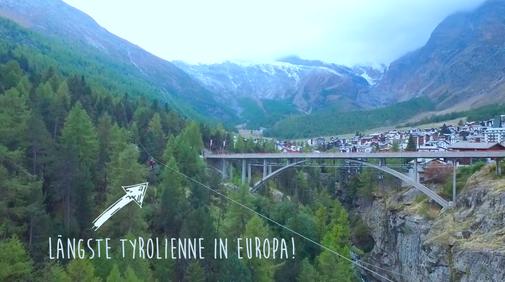 Längste Tyrolienne in Europa Adrenalin und Nervenkitzel pur
