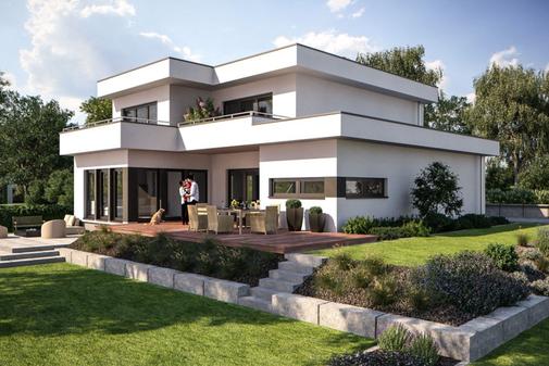 Bauhaus Villa von Bärenhaus Fertighaus-Nord