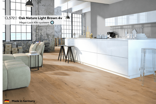 CL572 Oak Nature Light Brown 4v impressie