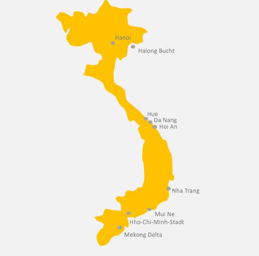 Kartenansicht Vietnam