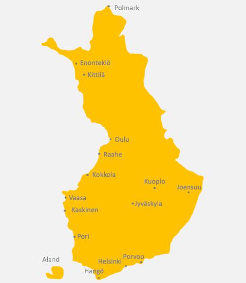 Karte von Finnland