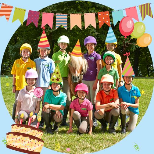 Fête d'anniversaire avec les poneys, Poney-club les Rouillons, Sens, Yonne