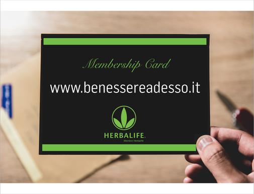 Richiedi subito la tua Membership Card e acquista con il 25% di sconto.