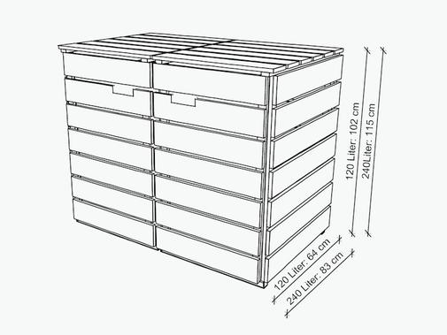 Mülltonnenbox Maße