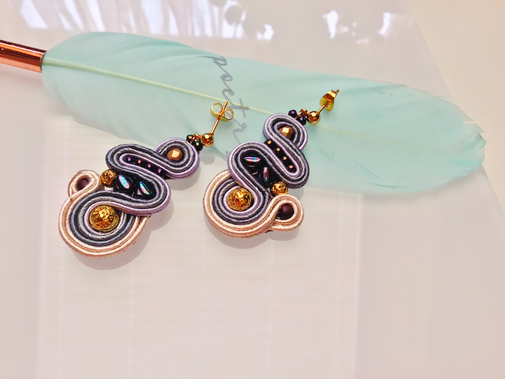 Soutache Statement Ohrringe Alessia, designt by Kinar, Schmuck, Ohrringe handmade