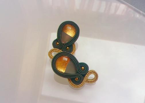 Soutache-Ohrringe Agnet by Kinari Statement, Designer