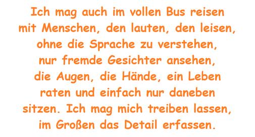 Eine #Künstlerin erklärt, warum sie gerne im Bus fährt.